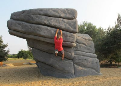 Fairlop Waters Concrete Climbing Boulder